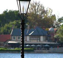 R3 - lamp with Rose and Crown in background by disneyluvr