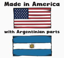 Made In America With Argentinian Parts Kids Tee