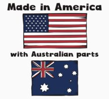 Made In America With Australian Parts Baby Tee