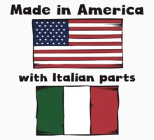 Made In America With Italian Parts Kids Tee
