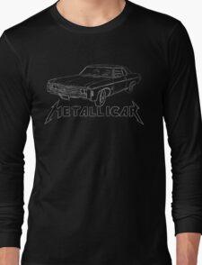 Metallicar (White Line and Text) Long Sleeve T-Shirt