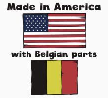 Made In America With Belgian Parts Kids Tee
