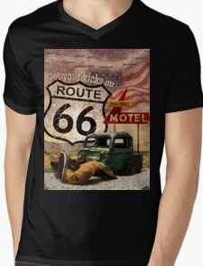 Get your Kicks on Route 66 Mens V-Neck T-Shirt