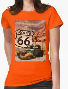 Get your Kicks on Route 66 Womens Fitted T-Shirt