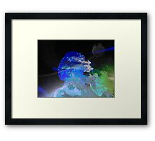Outer Space Jellyfish Framed Print