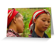 Dao Women, Bac Ha, Vietnam Greeting Card