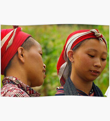 Dao Women, Bac Ha, Vietnam Poster