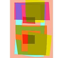 Abstract in pink and green Photographic Print