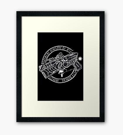 Psycho Pass Dominator Anime Cosplay Japan T Shirt Framed Print