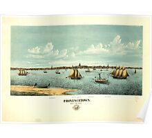 Panoramic Maps Provincetown Poster