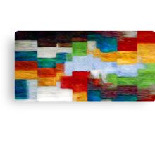 Squares Abstract Oil Painting Canvas Print