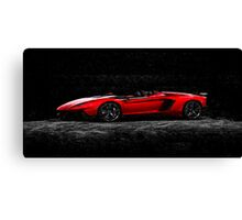 Lamborghini Night Oil Painting Canvas Print