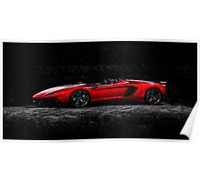 Lamborghini Night Oil Painting Poster