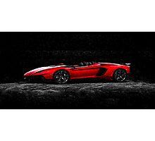 Lamborghini Night Oil Painting Photographic Print