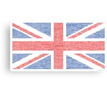 Union Jack - Towns & Cities Canvas Print