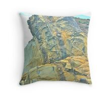 California Coast Rock Formations Throw Pillow