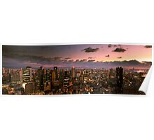 View from Umeda Sky Building during Sunset Poster