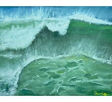 Oceans Green Photographic Print