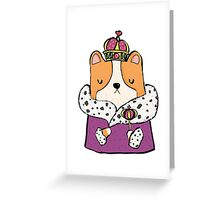 Queen Corgi Greeting Card