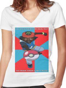 Kony Pokemon Women's Fitted V-Neck T-Shirt