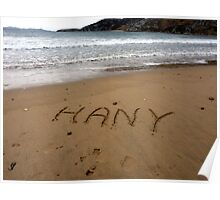 Hany In The Sand At Dunree Bay Poster