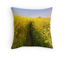 Moonrise over Yellow Throw Pillow