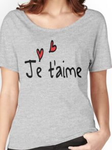 Je T'aime typo Women's Relaxed Fit T-Shirt