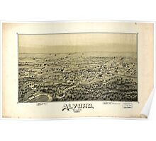 Panoramic Maps Alvord Texas Poster