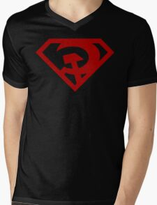 Superman- Red Son Mens V-Neck T-Shirt