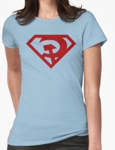 Superman- Red Son Womens Fitted T-Shirt