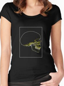 Skull Lines C Women's Fitted Scoop T-Shirt
