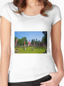 Memorial Rows Women's Fitted Scoop T-Shirt