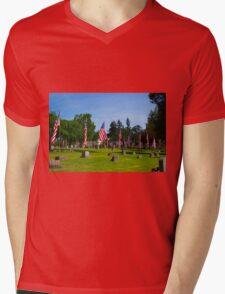 Memorial Rows Mens V-Neck T-Shirt
