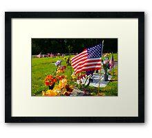 Memorials Framed Print