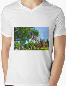 Monuments Mens V-Neck T-Shirt