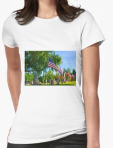 Monuments Womens Fitted T-Shirt