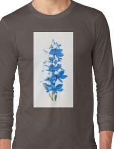 Blue Lady Orchid (Thelymitra crinita) Long Sleeve T-Shirt