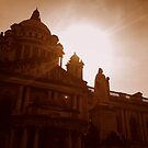 Queen Victoria Statue Silhouette, Belfast City Hall by Chris Millar