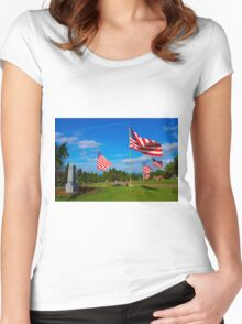 Patriot Blue Women's Fitted Scoop T-Shirt