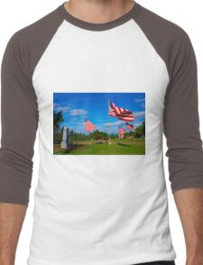 Patriot Blue Men's Baseball ¾ T-Shirt