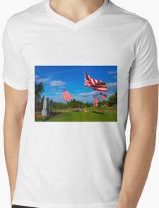 Patriot Blue Mens V-Neck T-Shirt