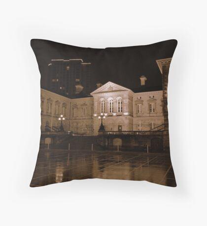 Custom House at night, Belfast Throw Pillow