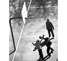 Playing ball in Bronx, NYC Photographic Print