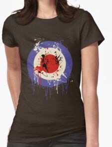 Mod Drip Splatter Womens Fitted T-Shirt