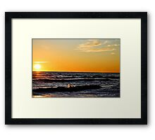 A Cold Morning At Sandbridge Framed Print