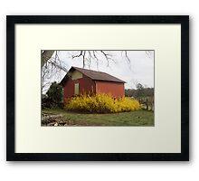 Red Barn Comes Alive Framed Print