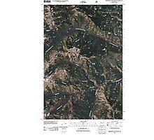 USGS Topo Map Washington State WA Timberwolf Mountain 20110506 TM Photographic Print