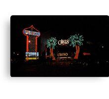 Las Vegas with Watercolor Effect Canvas Print