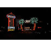 Las Vegas with Watercolor Effect Photographic Print