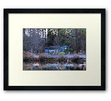 Haunting Blue House Framed Print